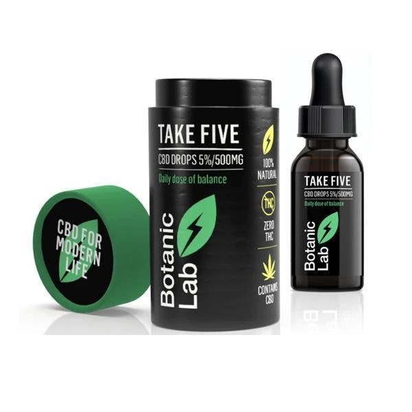 Botanic Lab Take Five 500mg CBD Oil Drops 10ml - Natural Euphoria