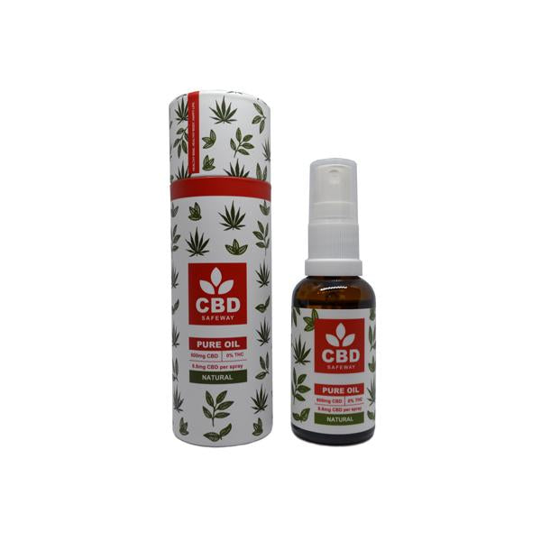 CBD Safe Way 1200mg CBD MCT Oil Spray - 30ml