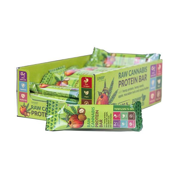 Euphoria Raw Cannabis Protein Bar - Apple Flavour