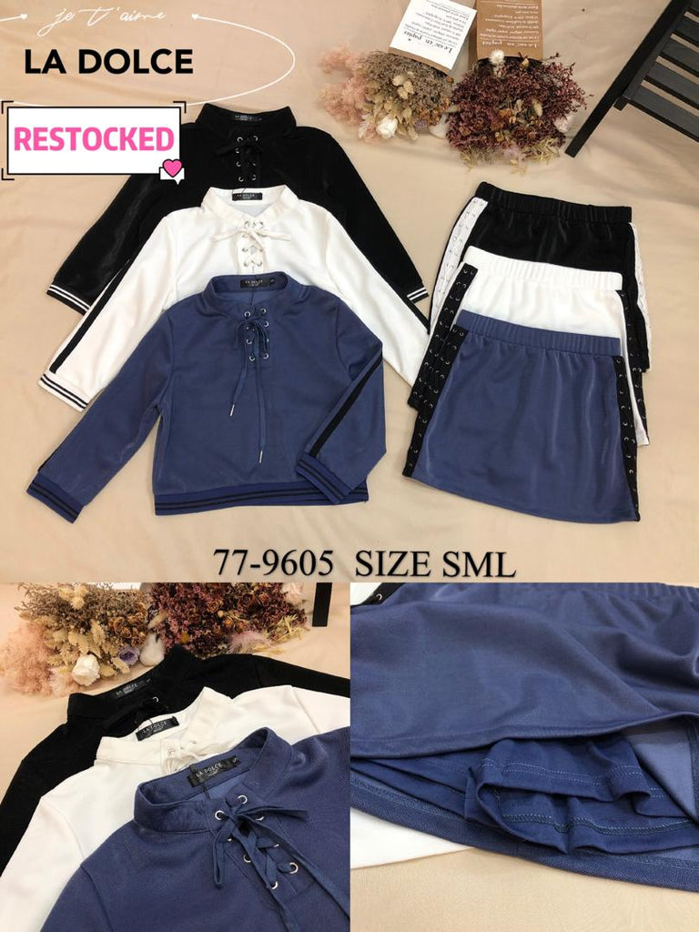 Ohayo Top Set (Top + Skirt Pants)