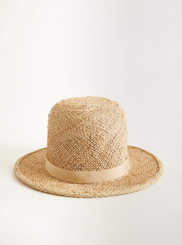 Holy mountain (mini) straw hat - Removable ribbon in Wheat