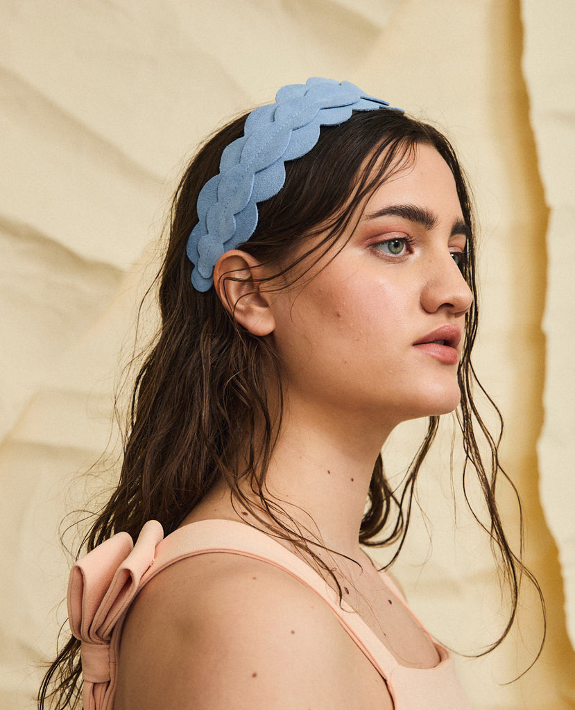 Twombly suede headband - Blue