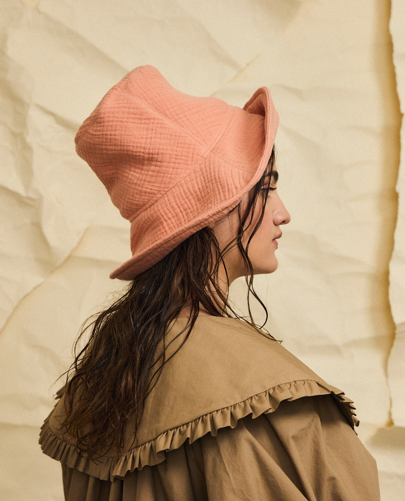 Highland hat - Apricot cotton gauze