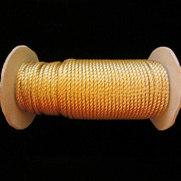 "20.1 Metallic cord bright gold 1/8"" (3mm) - Palladia Passementerie"