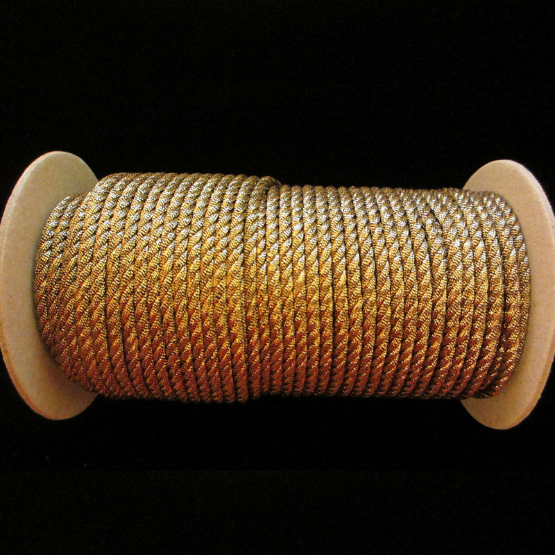 "20.2 Metallic cord antique gold 1/8"" (3mm) - Palladia Passementerie"