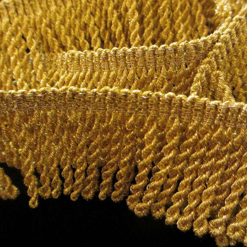 "210.1 Metallic bullion fringe bright gold 1-1/8"" (30mm) - Palladia Passementerie  - 2"