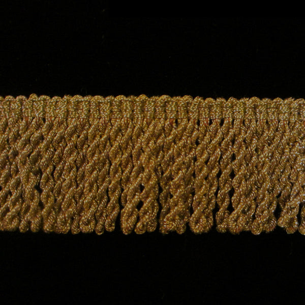 "210.2 Metallic bullion fringe antique gold 1-1/8"" (30mm) - Palladia Passementerie"
