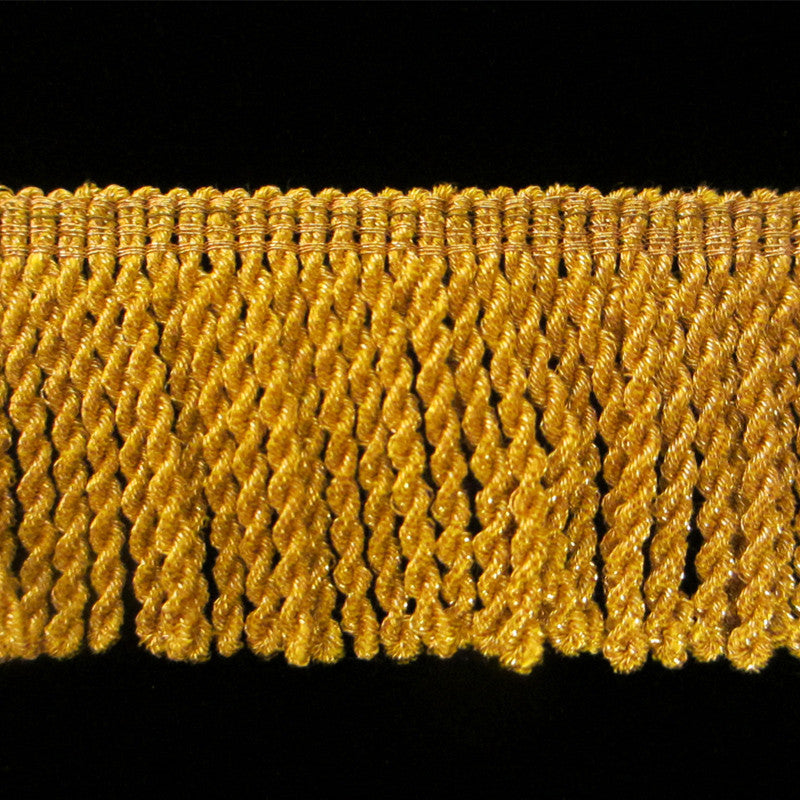 "211.1 Metallic bullion fringe bright gold 1-1/2"" (38mm) - Palladia Passementerie"