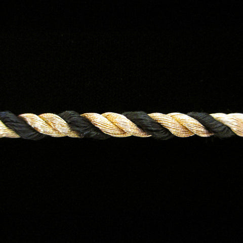 "303.1 Metallic cord gold/black 3/16"" (5mm) - Palladia Passementerie  - 1"