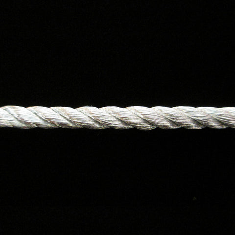 "310.3 Large metallic cord bright silver 3/16"" (5mm) - Palladia Passementerie"