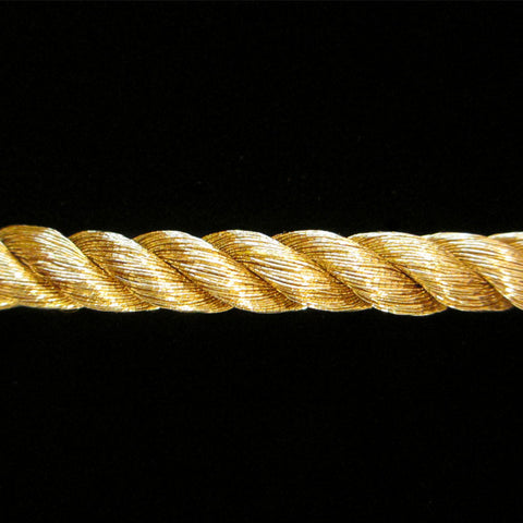 "312.1 Large metallic cord bright gold ¼"" (6mm) - Palladia Passementerie"