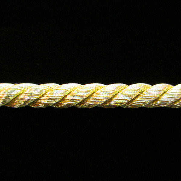 "313.1 Large metallic cord bright gold 1/4"" (6mm) - Palladia Passementerie"
