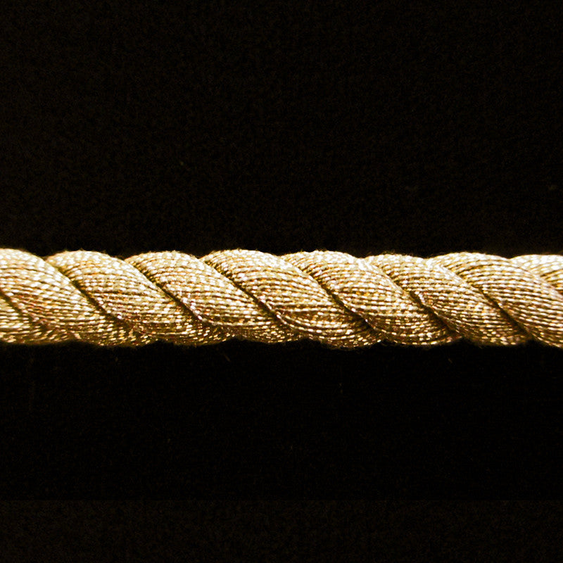 "314.2 Large metallic cord antique gold 5/16"" (8mm) - Palladia Passementerie"