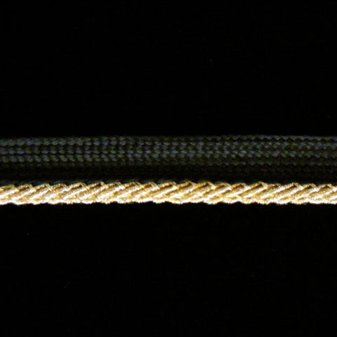 "351 Metallic piping bright gold ⅜"" (9mm) - Palladia Passementerie"