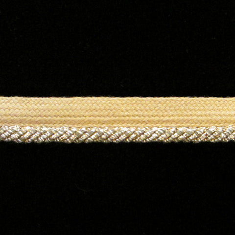 "352 Metallic piping antique-gold ⅜"" (9mm) - Palladia Passementerie  - 1"