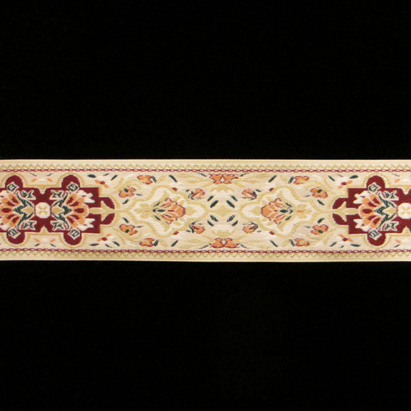 418.1 Pushkin cream narrow jacquard trim 1-3/16 (30mm) - Palladia Passementerie