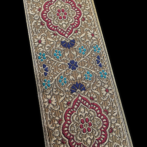 "427 Jaipur jacquard trim 2-3/8"" (60mm)"