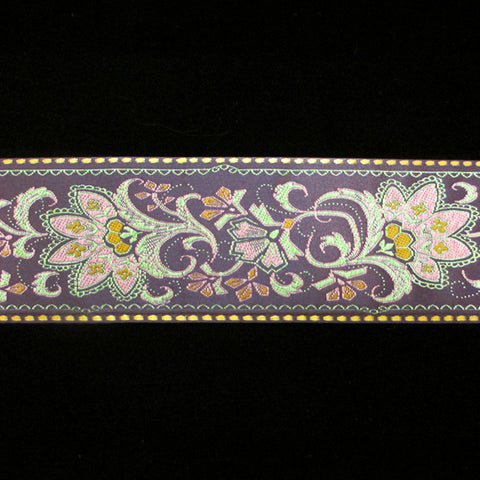 "447.2 Prague purple jacquard trim 2-3/16"" (55mm) - Palladia Passementerie  - 1"