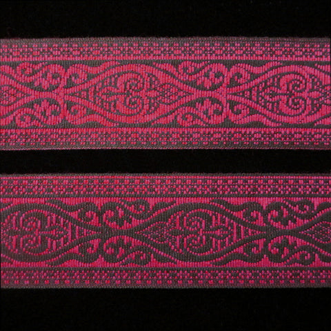 "494.1 Esterhazy red jacquard trim 1-3/8"" (35mm)"