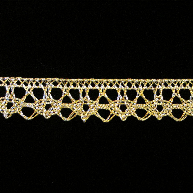 "512 Spangle metallic lace 1/2"" (12mm) - Palladia Passementerie"