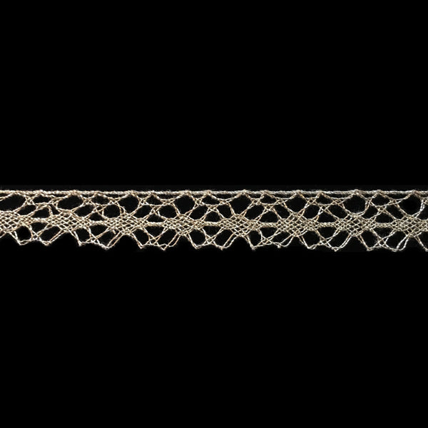"513 Metallic lace trim - ""Web"" - 5/8"" (15mm) - Palladia Passementerie"