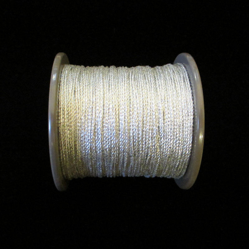 "55.3 Mini metallic cord bright silver 1/64"" (0.4mm) - Palladia Passementerie"