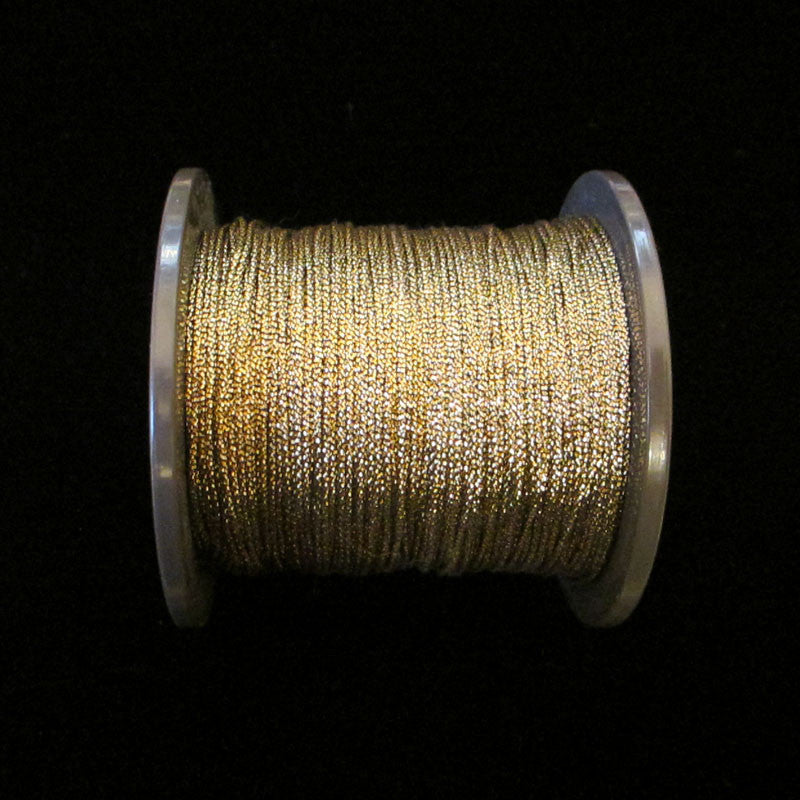 "55.2 Mini metallic cord antique gold 1/64"" (0.4mm) - Palladia Passementerie"