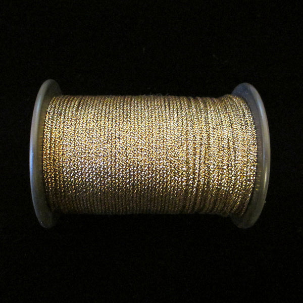 "57.2 Metallic cord antique-gold 1/16"" (1.6mm) - Palladia Passementerie"