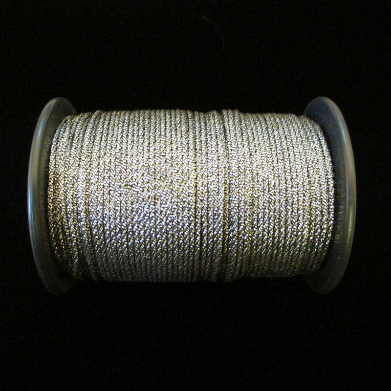 "56.4 Metallic cord antique silver 1/32"" (0.8mm) - Palladia Passementerie"