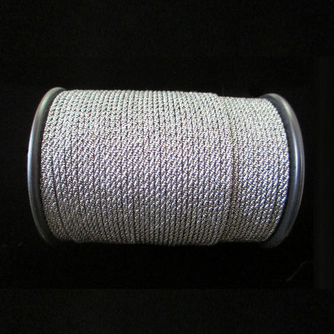 "57.4 Metallic cord antique silver 1/16"" (1.6mm) - Palladia Passementerie"