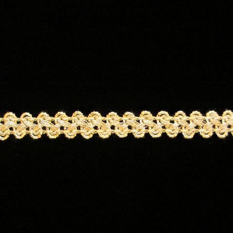 "630.1 Figure 8 metallic gimp bright gold 3/8"" (9mm) - Palladia Passementerie"