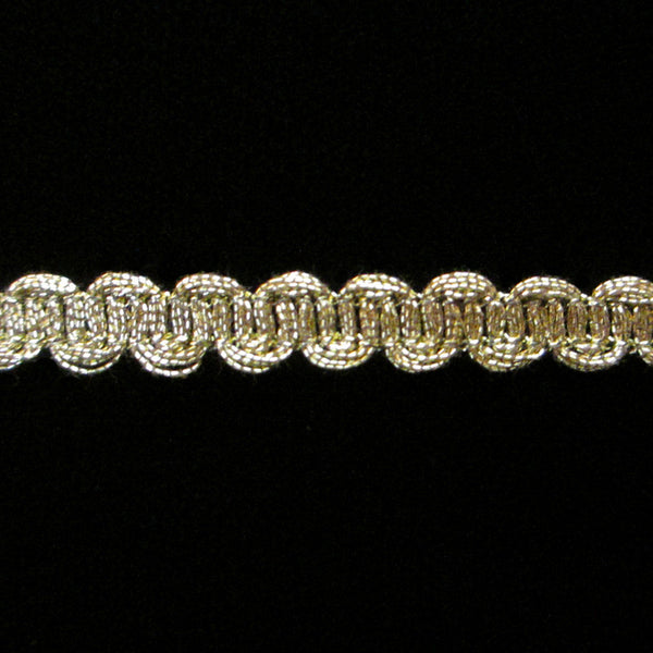 "633.2 Small U-loop metallic gimp antique gold - ¼"" (6mm) - Palladia Passementerie"