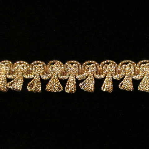 "641.2 Tassel trim metallic antique gold 5/8"" (16mm) - Palladia Passementerie"