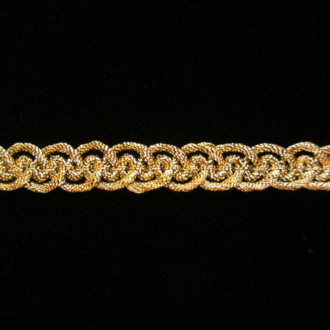 "660.2 Military metallic gimp antique-gold 3/8"" (9mm) - Palladia Passementerie"