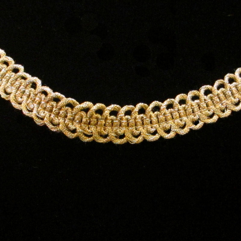 "662 Military gimp double-loop metallic trim antique gold ½"" (13mm) - Palladia Passementerie  - 2"