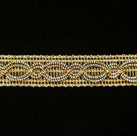"718.2 Infinity border metallic gimp antique gold 5/8"" (16mm) - Palladia Passementerie  - 1"