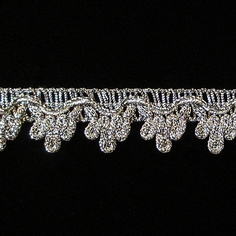 "737.4 Single icing metallic gimp antique silver 3/4"" (19mm) - Palladia Passementerie  - 1"