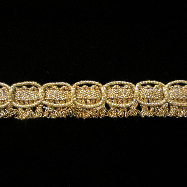"753 Kilt metallic gimp antique gold ½"" (12mm) - Palladia Passementerie"