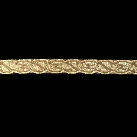 "801.7 Acanthus metallic galloon brown/gold 1/2"" (12mm) - Palladia Passementerie"