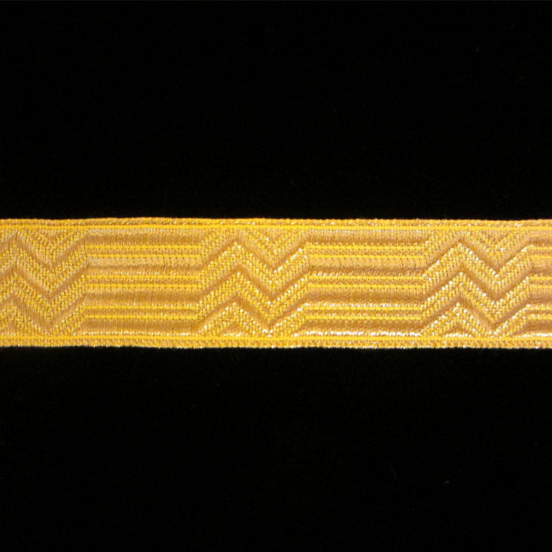 "804.1 Britannia metallic galloon bright gold 3/4"" (19mm) - Palladia Passementerie"