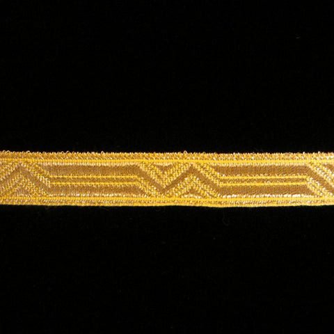 "804.2 Britannia metallic galloon bright gold 3/8"" (9mm) - Palladia Passementerie"