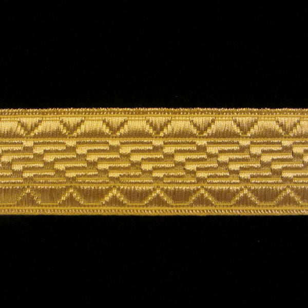"805.1 Salute metallic galloon bright gold 1"" (25mm) - Palladia Passementerie  - 1"