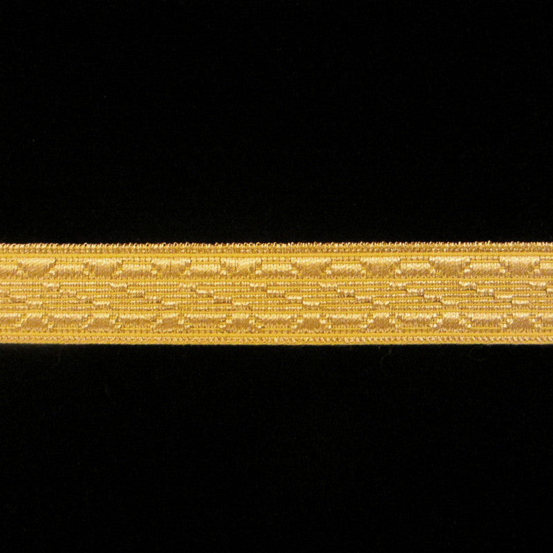 "805.2 Salute metallic galloon bright gold 1/2"" (13mm) - Palladia Passementerie"