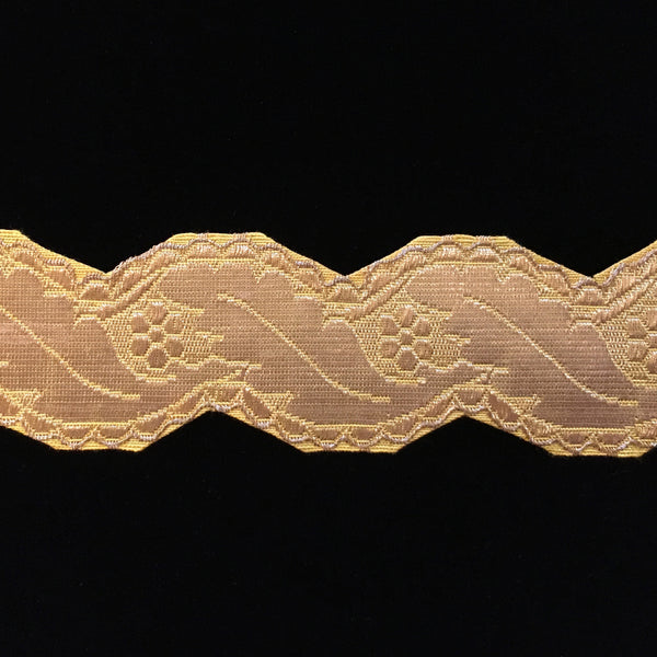 "810.4 Large scallop metallic bright-gold galloon trim 1-3/4"" (45mm)"