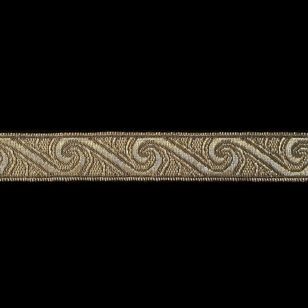 "812.1 Pacifica metallic galloon antique gold 5/8"" (16mm) - Palladia Passementerie  - 1"