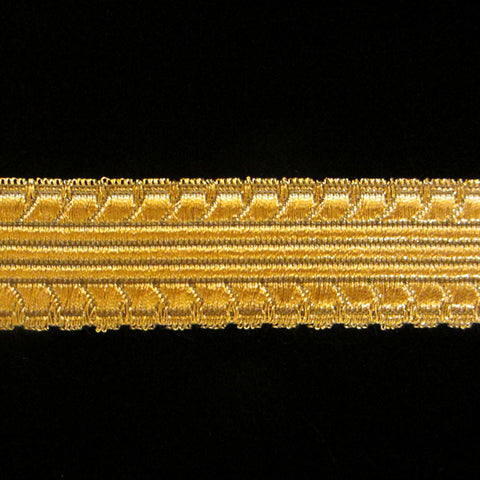 "817.1 Burnished metallic galloon antique gold 1"" (25mm) - Palladia Passementerie"