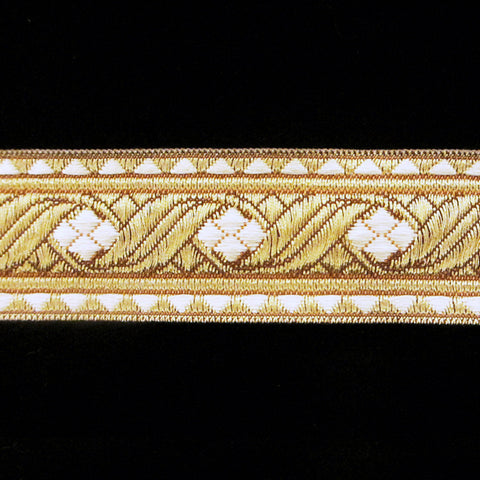 "823.3 Diamond white metallic galloon 1-1/8"" (30mm) - Palladia Passementerie  - 1"