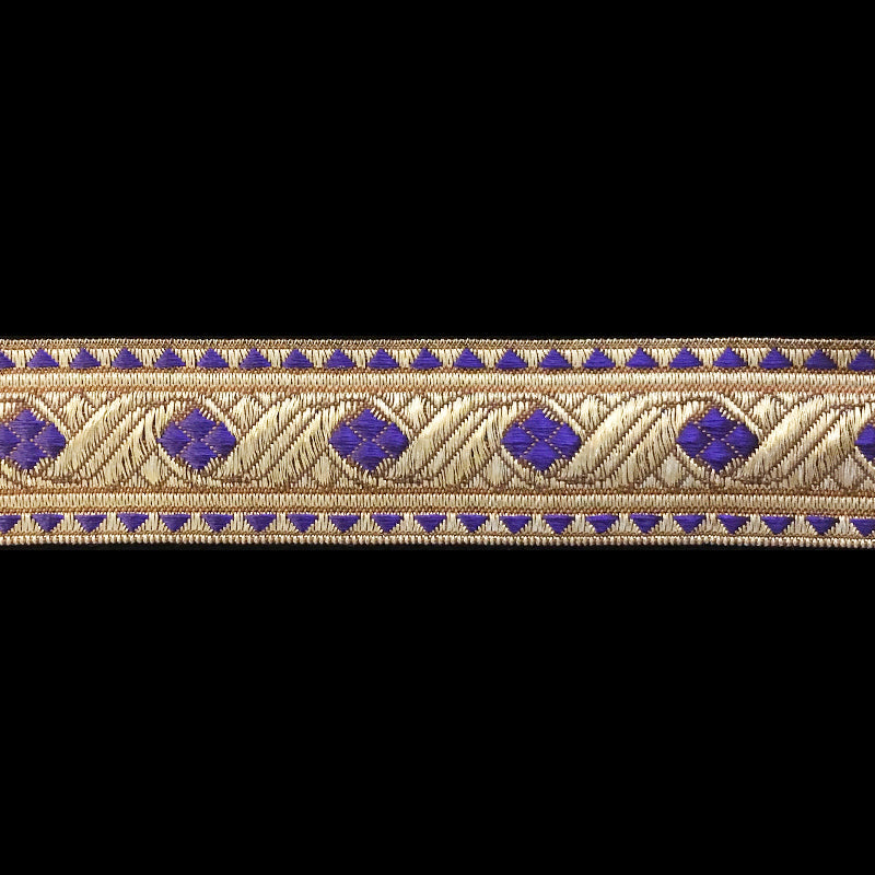 "823.8 Diamond purple metallic galloon 1-1/8"" (30mm)"
