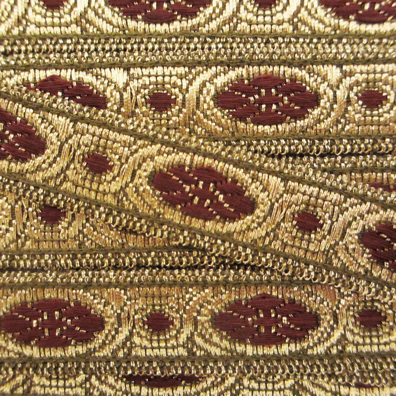 "833.2 Scarlet metallic galloon antique gold 1/2"" (13mm) - Palladia Passementerie  - 2"