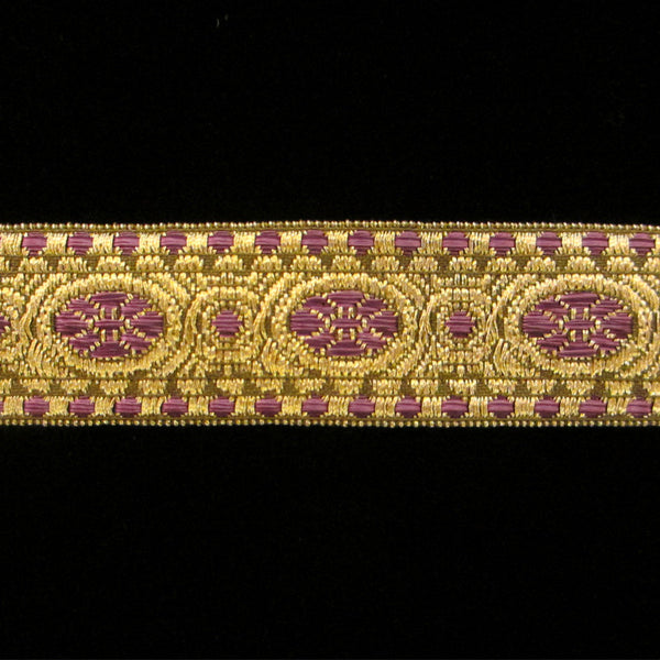 "833.3 Lavender metallic galloon wide 1"" (25mm) - Palladia Passementerie  - 1"